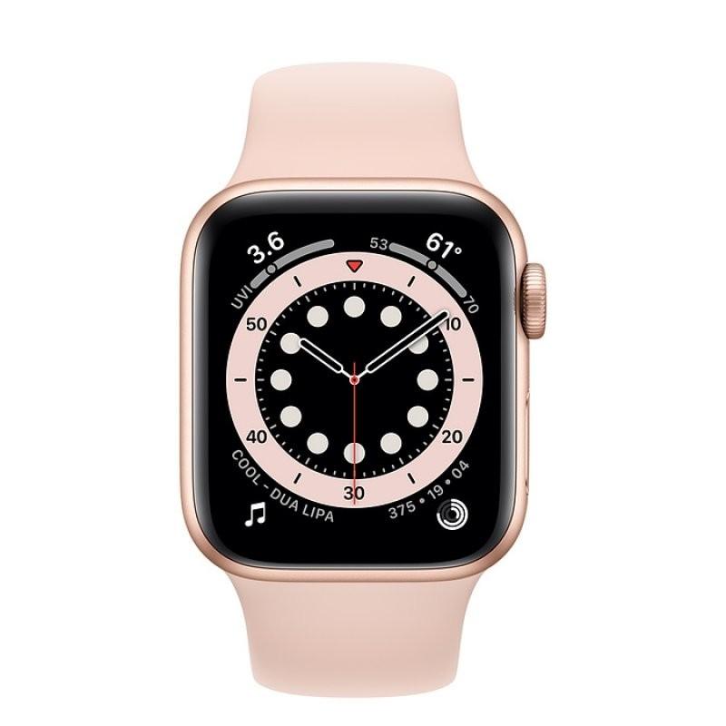 Apple Watch Series 6 GPS 40mm Aluminio en Oro con Correa Deportiva Rosa Arena