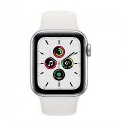 Apple Watch SE GPS 40mm Aluminio en Plata con Correa Deportiva Blanca