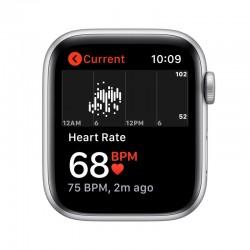 Apple Watch SE GPS 44mm Aluminio en Plata con Correa Deportiva Blanca