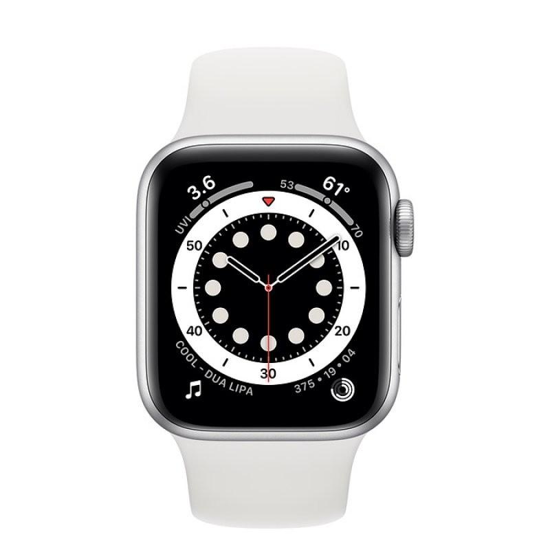 Apple Watch Series 6 GPS 40mm Aluminio en Plata con Correa Deportiva Blanca