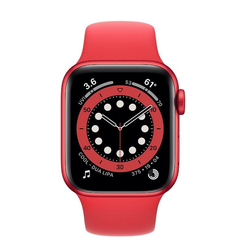 Apple Watch Series 6 GPS 40mm Aluminio (PRODUCT) RED con Correa Deportiva Roja