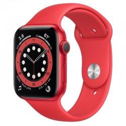 Apple Watch Series 6 GPS 44mm Aluminio (PRODUCT) RED con Correa Deportiva Roja