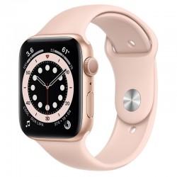 Apple Watch Series 6 GPS 44mm Aluminio en Oro con Correa Deportiva Rosa Arena