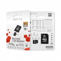 MEMORIA GOTTA MICRO SD 64GB CLASE 10 + SD ADAPTER
